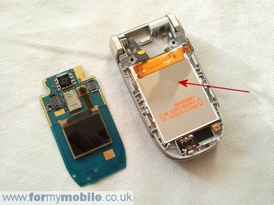 Nokia 2760 disassembly stage 6