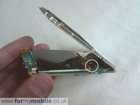 Nokia 6120 Classic disassembly stage 5