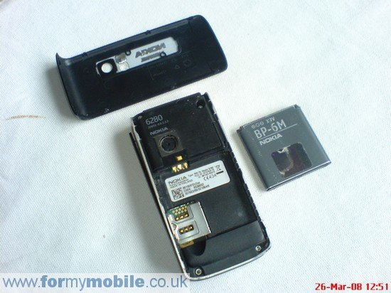 Nokia 6280 disassembly stage 1