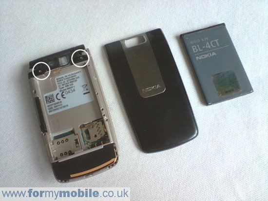 Nokia 6600 Fold disassembly stage 1