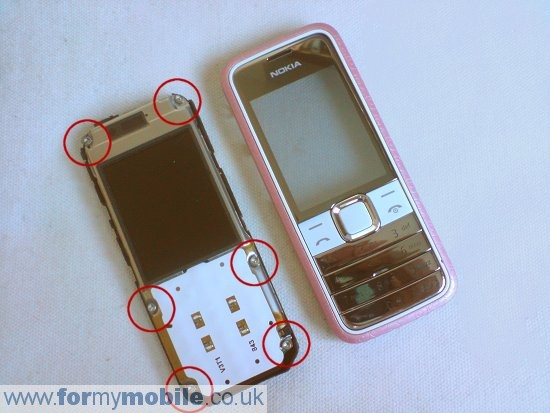 Nokia 7310 Supernova disassembly stage 3