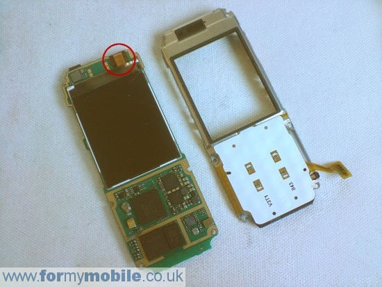 Nokia 7310 Supernova disassembly stage 6