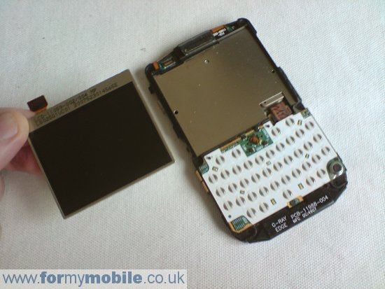 BlackBerry 8800 disassembly stage 7
