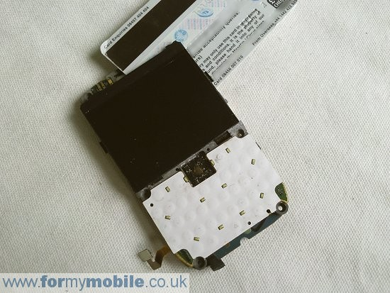 BlackBerry Curve 8900 disassembly stage 8