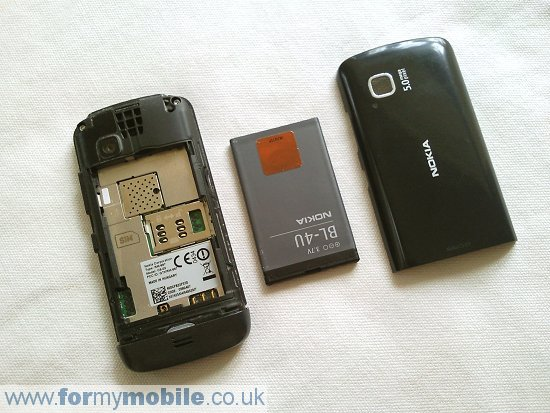 Nokia C5-03 disassembly stage 1
