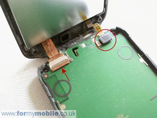 Nokia C5-03 disassembly stage 6
