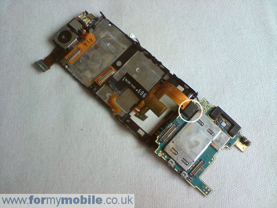 Sony Ericsson C510 disassembly stage 13