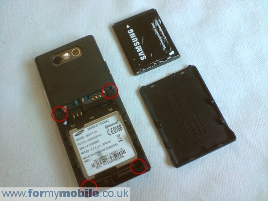 Samsung MiCoach F110 disassembly stage 1