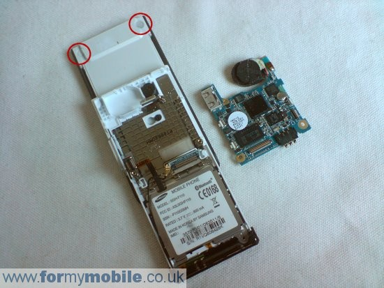 Samsung MiCoach F110 disassembly stage 5