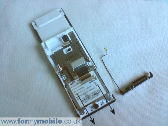 Samsung MiCoach F110 disassembly stage 6