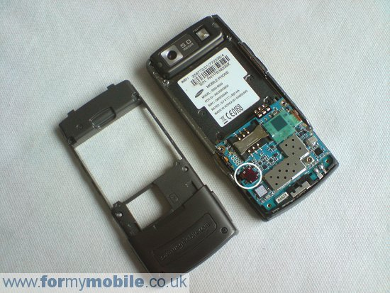 Samsung G600 disassembly stage 2