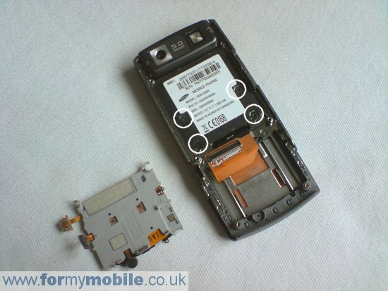Samsung G600 disassembly stage 6