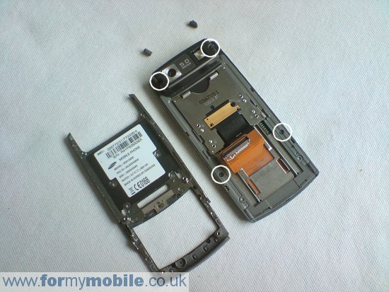 Samsung G600 disassembly stage 7