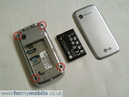 LG GS290 Cookie Fresh disassembly stage 1
