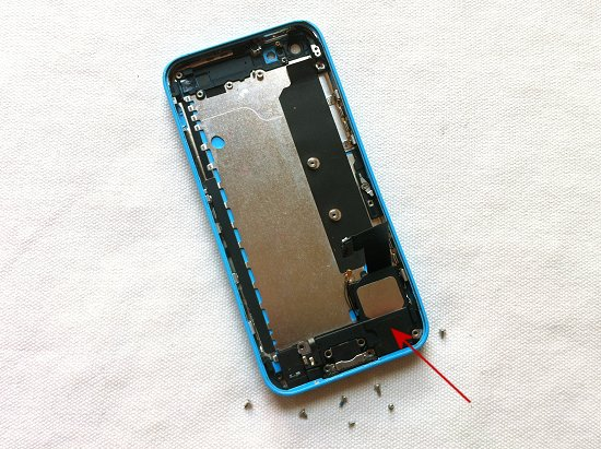 iPhone 5C disassembly stage 34