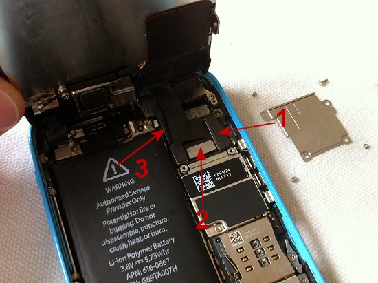 iPhone 5C disassembly stage 7