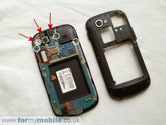 Samsung Nexus S i9020 disassembly stage 3