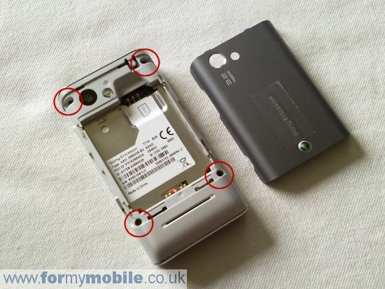Sony Ericsson T715 disassembly stage 1