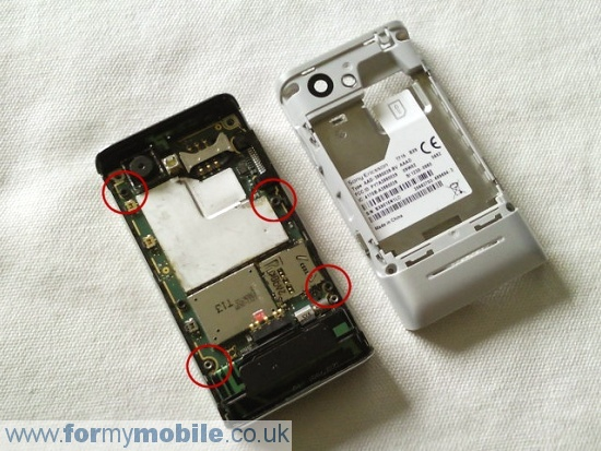 Sony Ericsson T715 disassembly stage 3
