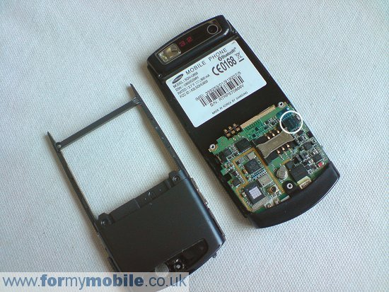 Samsung U600 disassembly stage 3