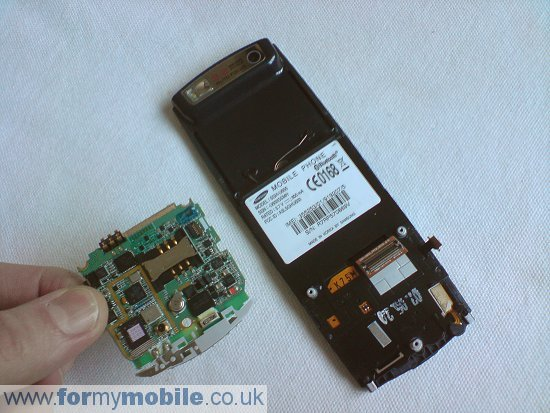 Samsung U600 disassembly stage 7