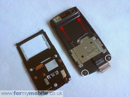 Samsung U600 disassembly stage 9