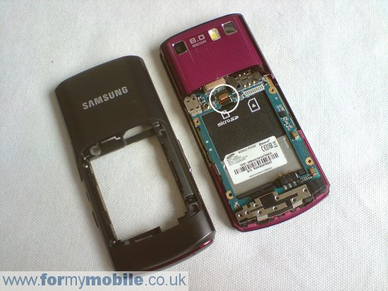 Samsung Tocco Ultra S8300 disassembly stage 3