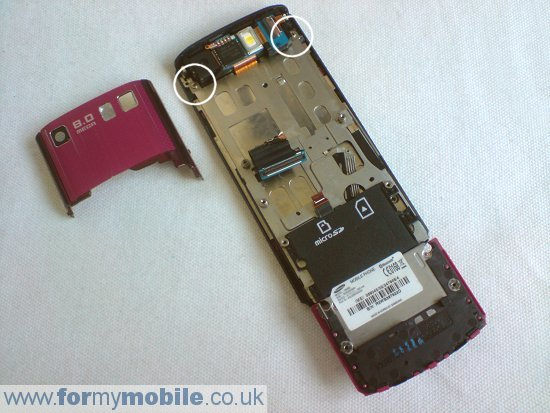 Samsung Tocco Ultra S8300 disassembly stage 8